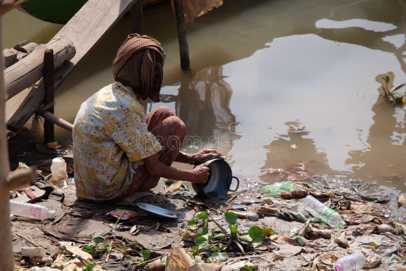 Het rivierleven stock foto