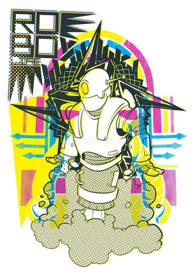 Het robotleven royalty-vrije illustratie