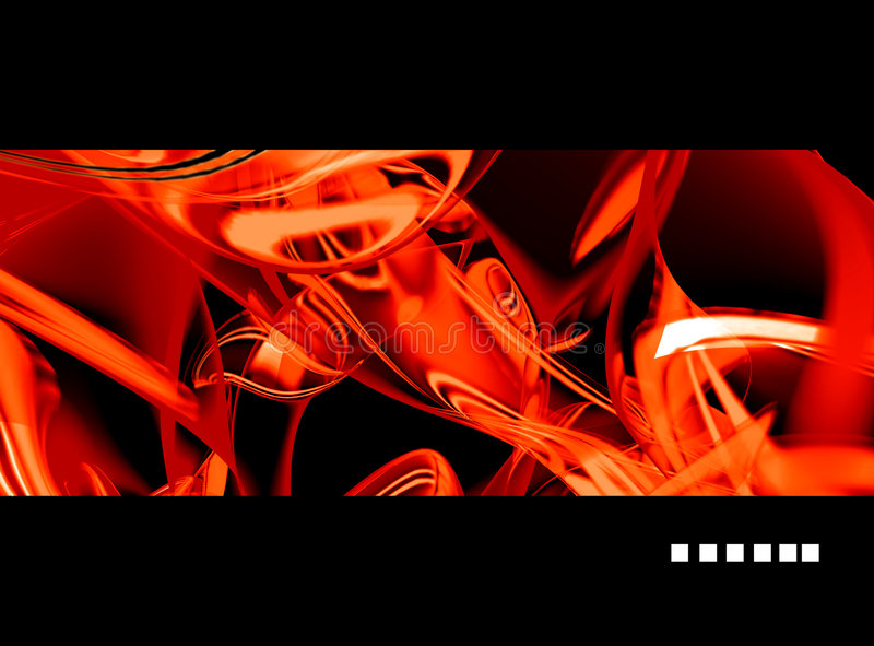 Het rode abstracte teruggeven vector illustratie