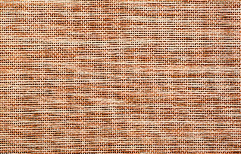Het Rode Detail Van De Juteoppervlakte Royalty-vrije Stock Afbeelding