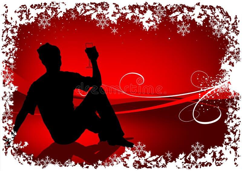 Het rode Drinken van de Kerstman royalty-vrije illustratie