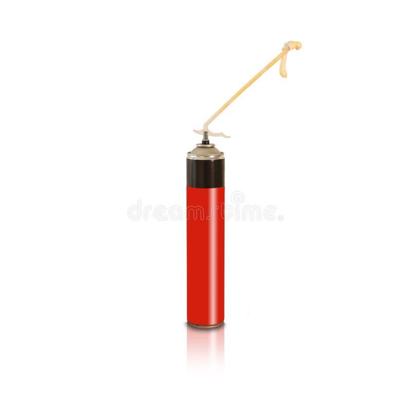 Het rode en zwarte instrument van het de lijmkanon van het polyurethaan uitbreidende schuim B stock afbeeldingen