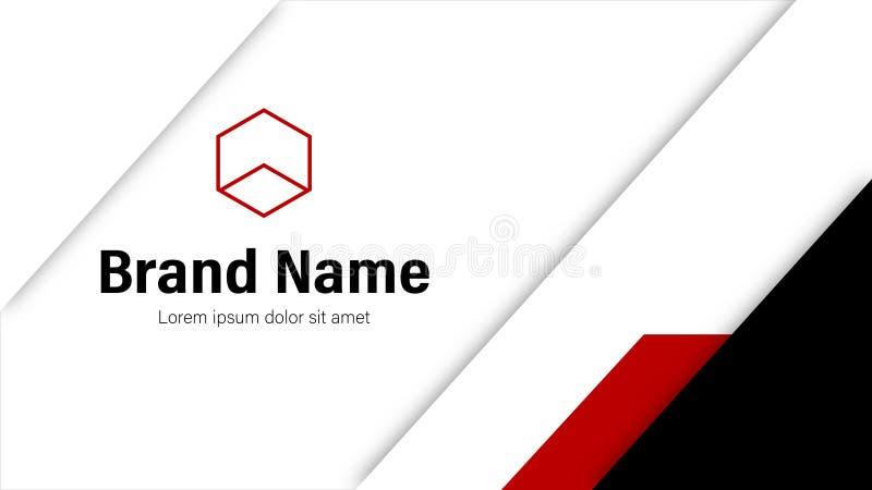 Het rode en Zwarte Malplaatje van Adreskaartjevectoren vector illustratie