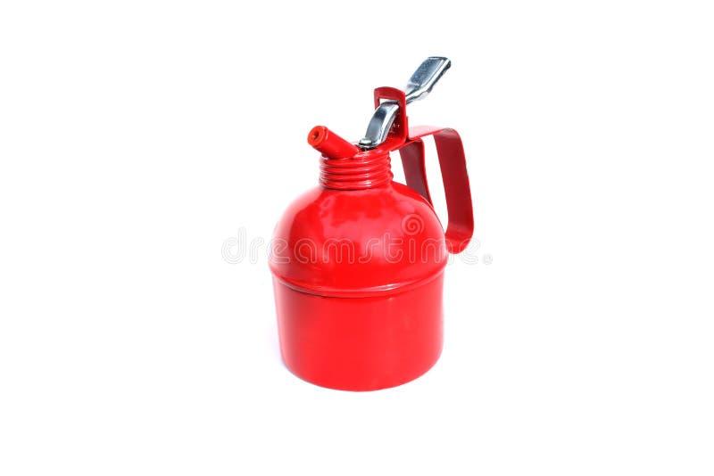 Het rode fles pompen royalty-vrije stock fotografie