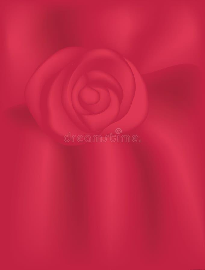Het rode Fluweel nam Achtergrond toe royalty-vrije illustratie