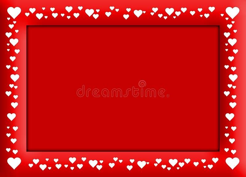 Het rode frame van Velentine royalty-vrije illustratie