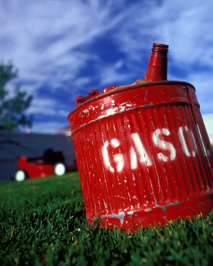 Het rode gas kan royalty-vrije stock foto