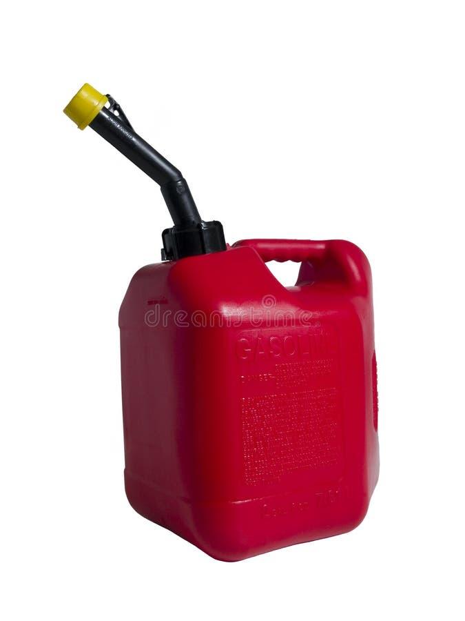 Het rode Gas kan Geïsoleerdn royalty-vrije stock foto