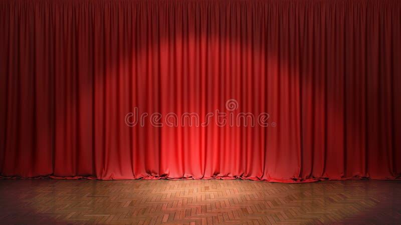 Het rode gordijn royalty-vrije stock foto