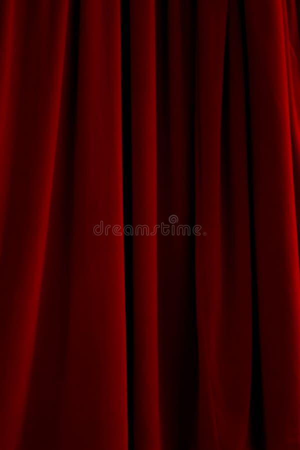 Het rode Gordijn van het Fluweel stock foto's