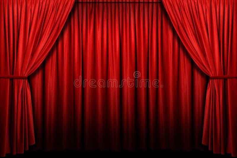 Het rode Gordijn van het Stadium royalty-vrije stock foto's