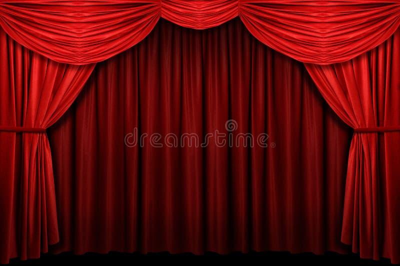 Het rode Gordijn van het Stadium royalty-vrije stock foto