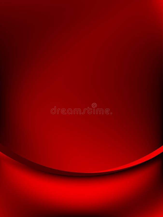 Het rode gordijn verdwijnt aan donkere kaart langzaam. EPS 10 vector illustratie