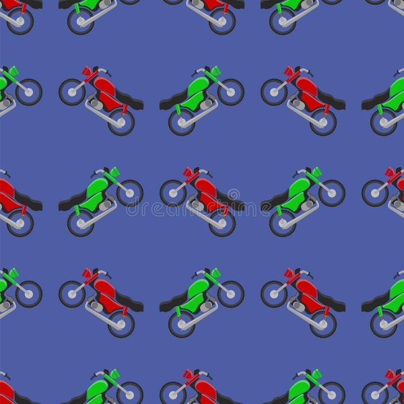 Het rode Groene Naadloze Patroon van de Sportfiets stock illustratie