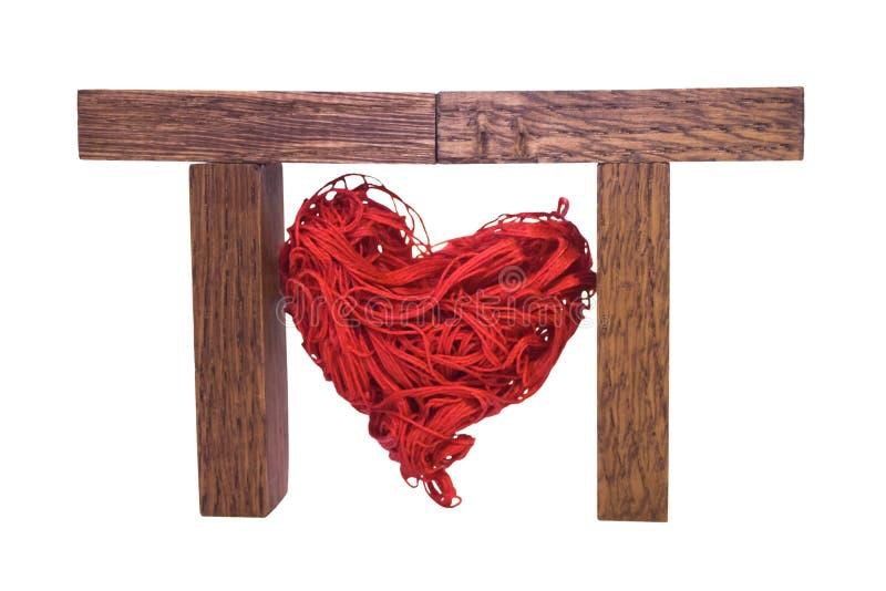 Het rode hart stock foto