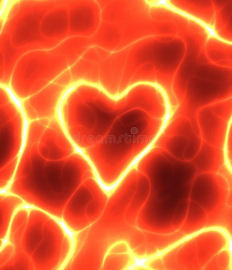 het rode hart van de elektriciteitsMacht   royalty-vrije illustratie