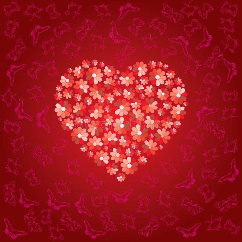 Het rode hart wordt gevuld royalty-vrije illustratie