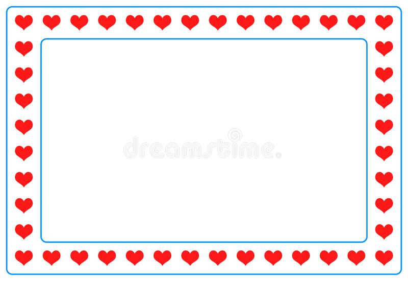 Het rode kader van de hartfoto op geïsoleerd royalty-vrije illustratie