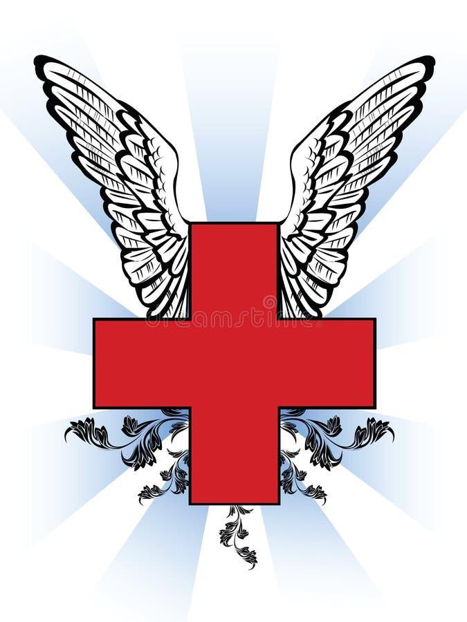 Het rode kruis van de eerste hulp vector illustratie