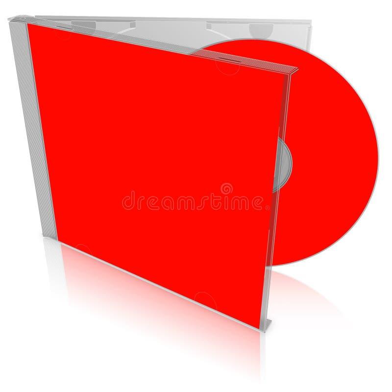 Het rode lege geval en de schijf van CD stock illustratie