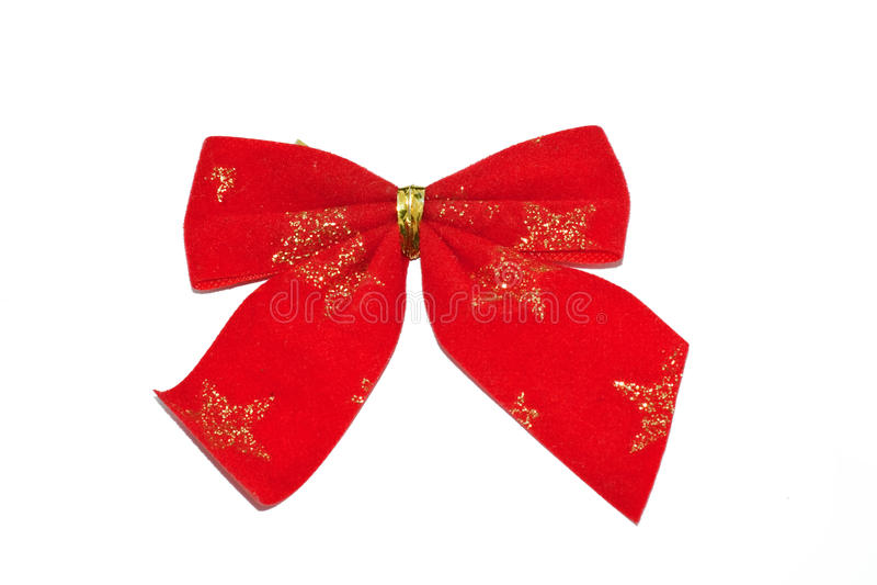 Het rode lint van Kerstmis stock afbeeldingen