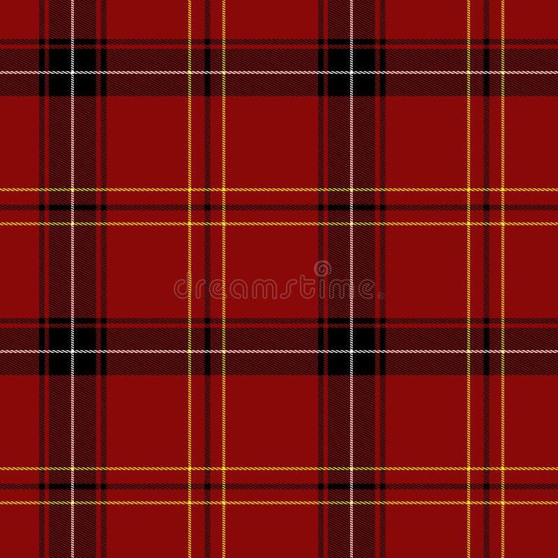 Het rode Naadloze Patroon van het Geruite Schotse wollen stof royalty-vrije illustratie