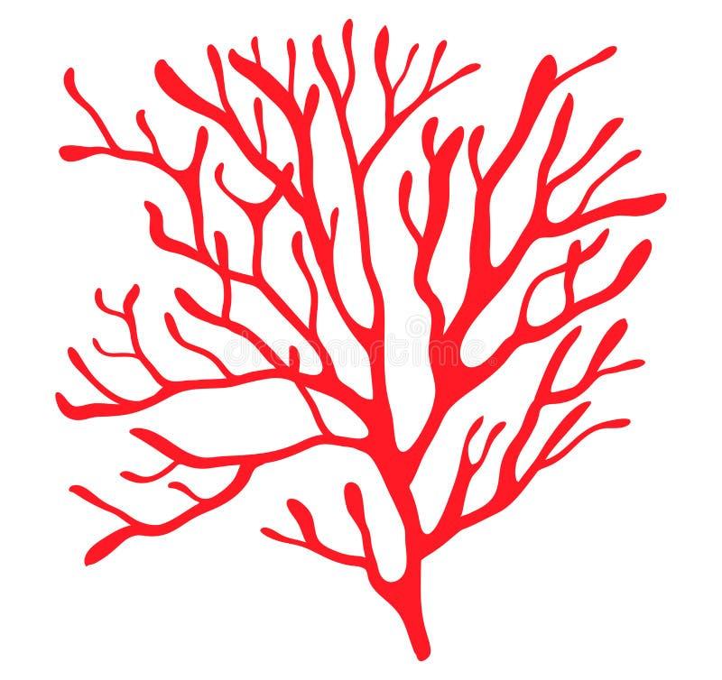 Het rode ontwerp van het het symboolpictogram van het algensilhouet vector Mooie illust royalty-vrije illustratie