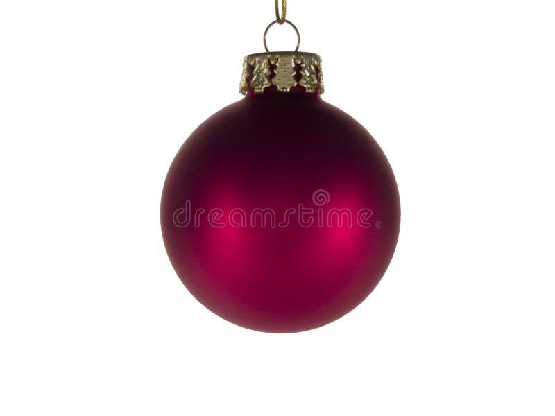 Het rode Ornament van Kerstmis stock foto's