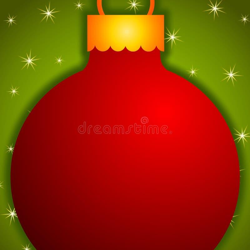 Het rode Ornament van Kerstmis   stock illustratie