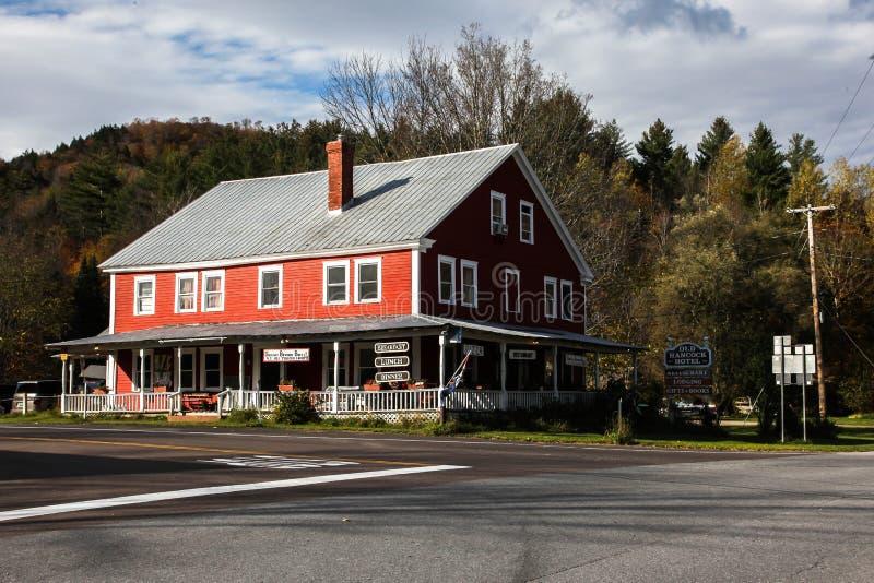 Het rode Oude hotel van Hancock royalty-vrije stock foto's