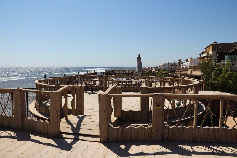 Het rode overzees in Dahab van Egypte stock afbeeldingen