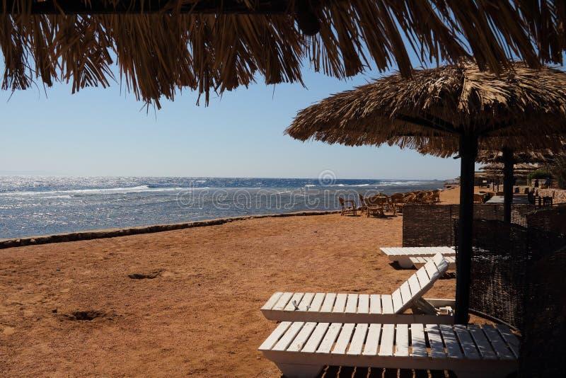Het rode overzees in Dahab van Egypte royalty-vrije stock foto