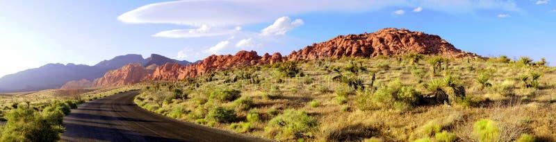 Het rode Panorama van de Weg van de Canion van de Rots royalty-vrije stock foto's