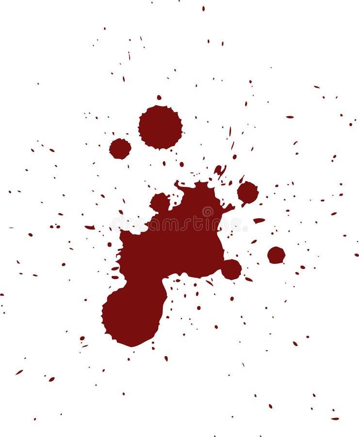 Het rode Patroon van de Spat van het Bloed vector illustratie
