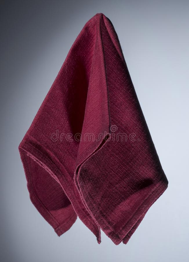 het rode servet van Bordeaux royalty-vrije stock foto