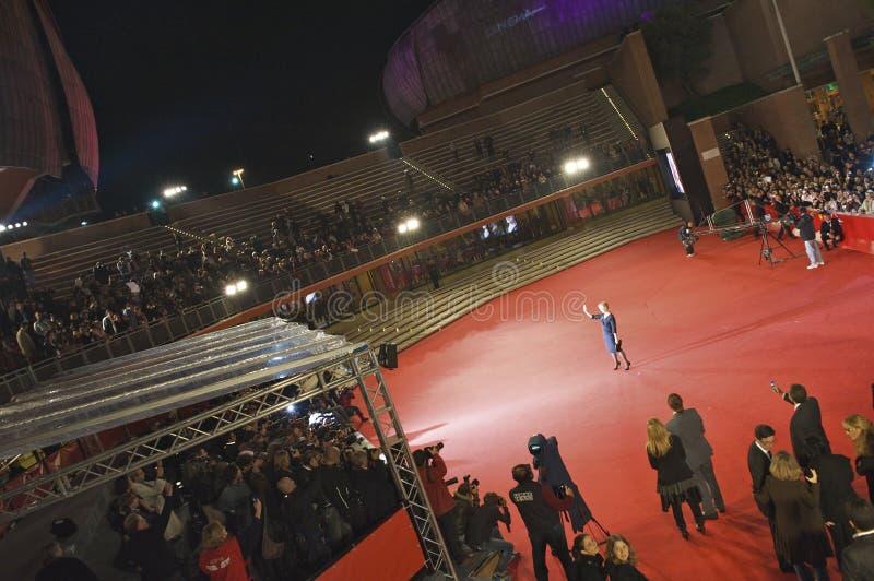 Het rode tapijt van Streep van Meryl stock afbeelding