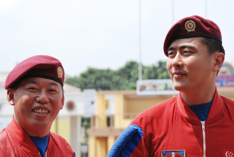 Het rode Team van het Valscherm van Leeuwen royalty-vrije stock afbeeldingen