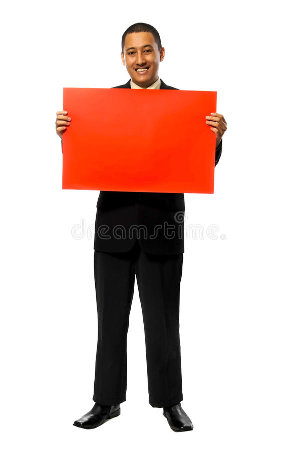 Het Rode Teken Greep van de bedrijfs van de Mens stock fotografie
