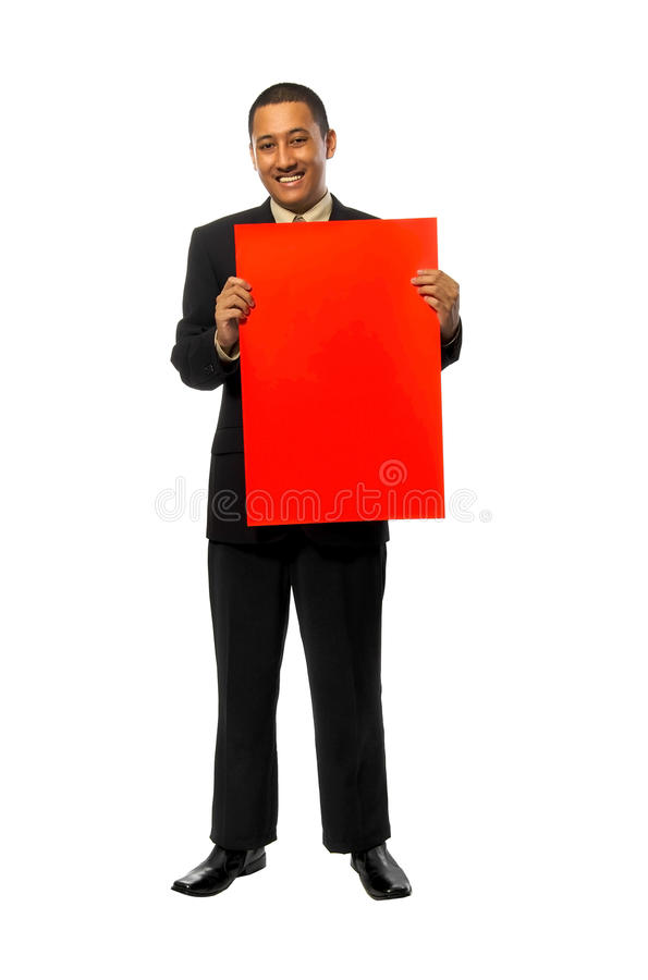 Het Rode Teken Greep van de bedrijfs van de Mens stock afbeeldingen