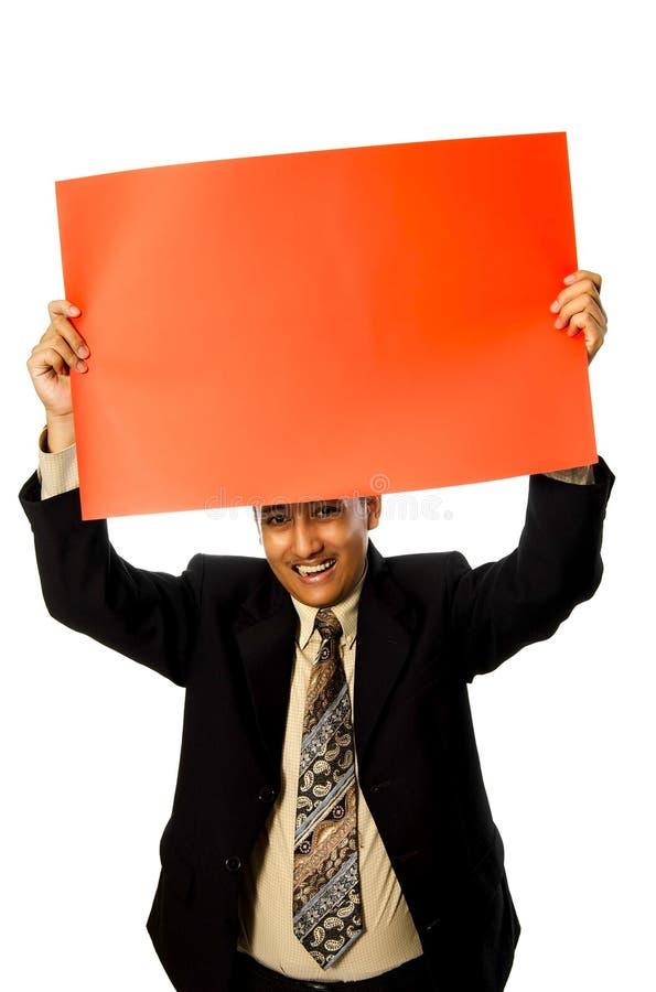 Het Rode Teken Greep van de bedrijfs van de Mens stock foto's