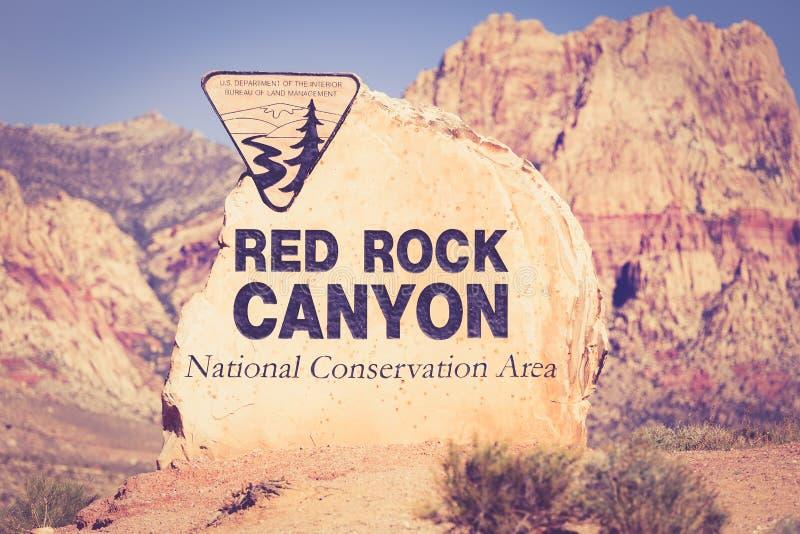 Het rode Teken Nevada van de Rotscanion stock foto