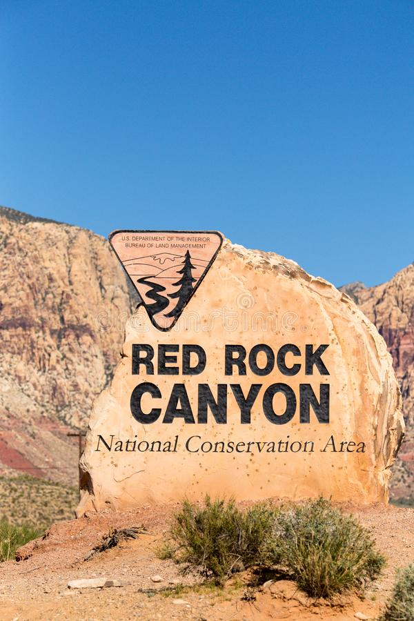 Het rode Teken Nevada van de Rotscanion royalty-vrije stock foto