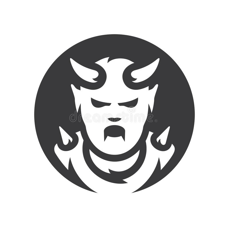 Het rode teken van het Duivels Vectorsilhouet royalty-vrije illustratie