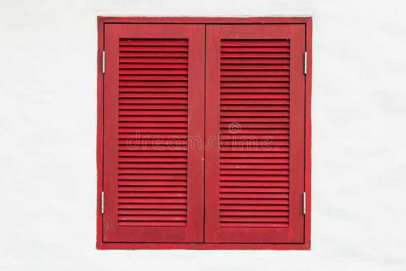 Het rode venster stock foto's