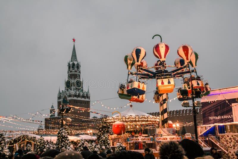 Het Rode Vierkante Nieuwjaar van Moskou stock foto