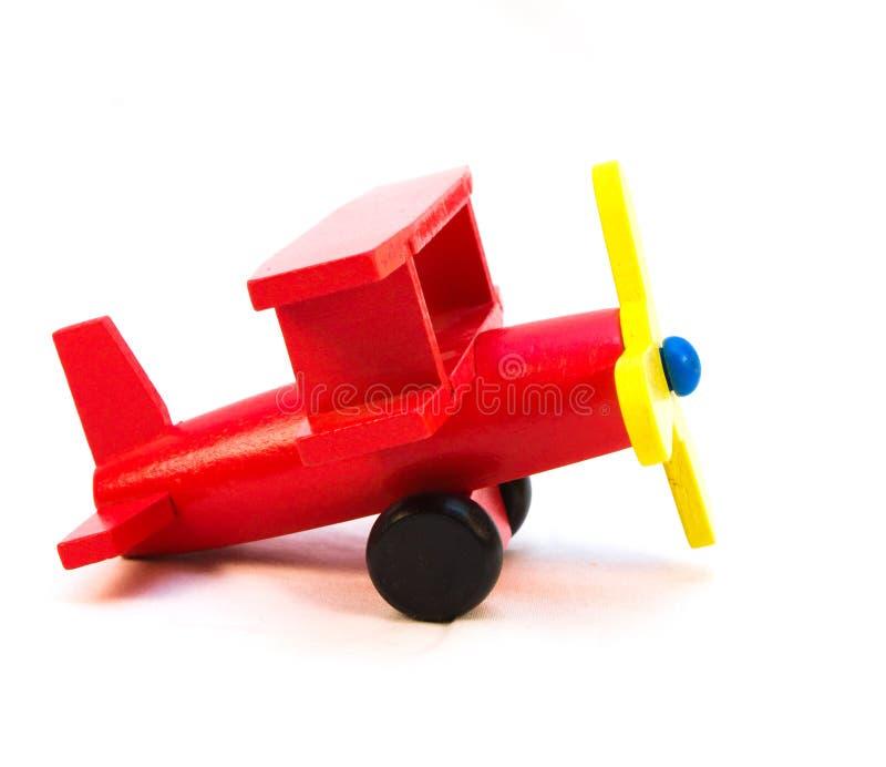 Het rode Vliegtuig van het Stuk speelgoed royalty-vrije stock foto