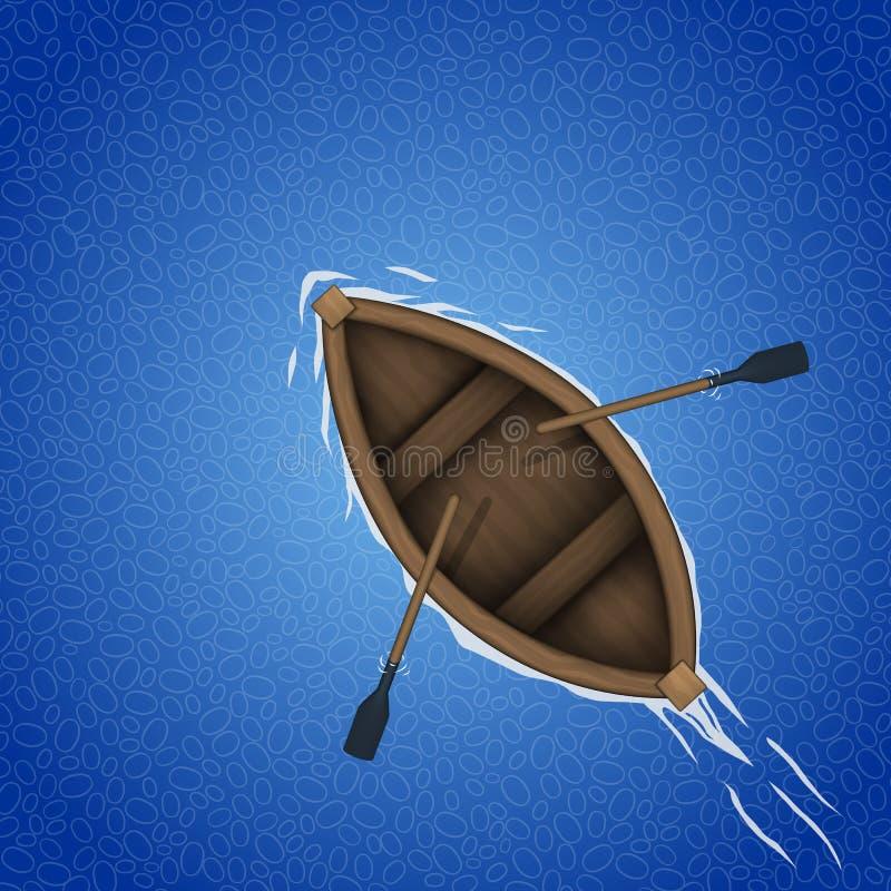 Het roeien bootachtergrond royalty-vrije illustratie