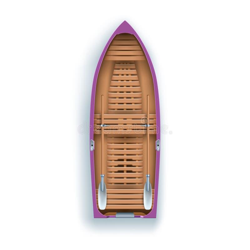 Het roeien bootpromenade stock illustratie