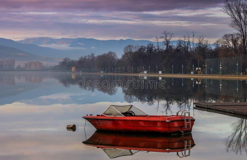 Het roeien kanaal Plovdiv stock afbeelding