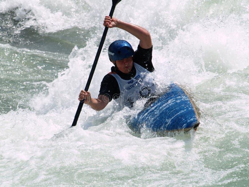 Het roeien van het kayaking royalty-vrije stock foto's